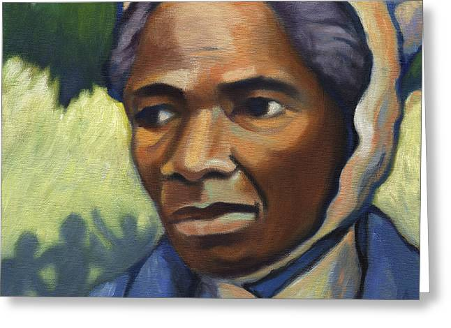 Abolitionist Paintings Greeting Cards - Sojourner Truth Greeting Card by Linda Ruiz-Lozito