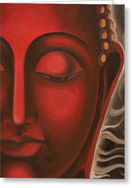 Liberation Greeting Cards - Solace Greeting Card by Priyami Kotadia