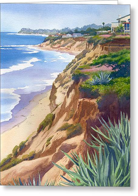 S. California Greeting Cards - Solana Beach Ocean View Greeting Card by Mary Helmreich