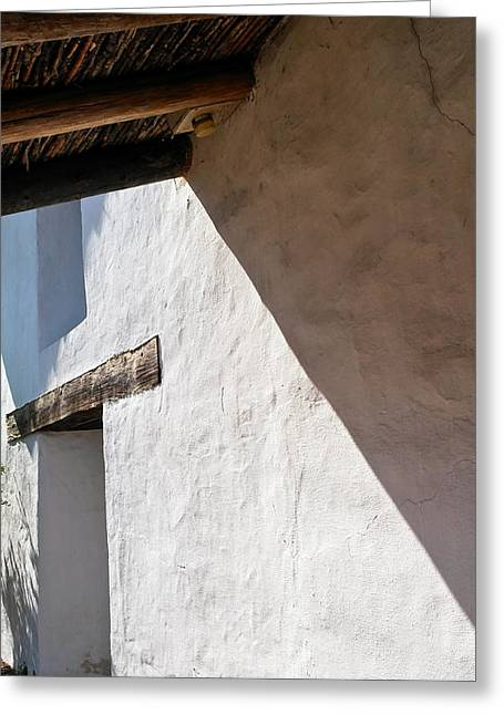 21st Greeting Cards - Solano Mission Doorway Greeting Card by Michele Myers