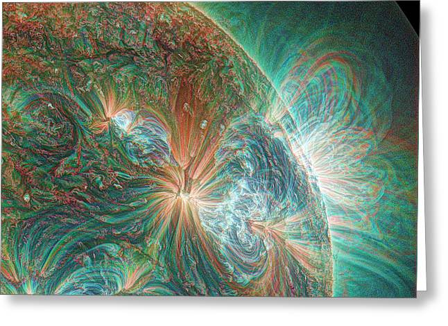 Solar Activity Greeting Card by Alzate/sdo