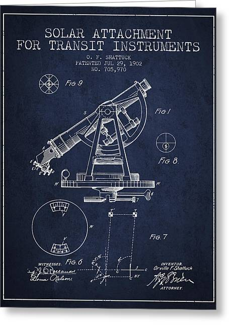 Solar Attachement For Transit Instruments Patent From 1902 - Nav Greeting Card by Aged Pixel