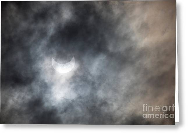 Solar Eclipse Greeting Cards - Solar Eclips Greeting Card by Rebecca Cozart