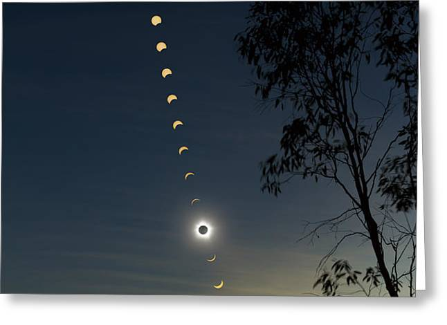 Solar Eclipse Composite, Queensland Greeting Card by Philip Hart