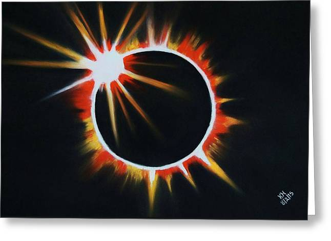 Solar Eclipse Pastels Greeting Cards - Solar Eclipse Greeting Card by Kevin Hubbard