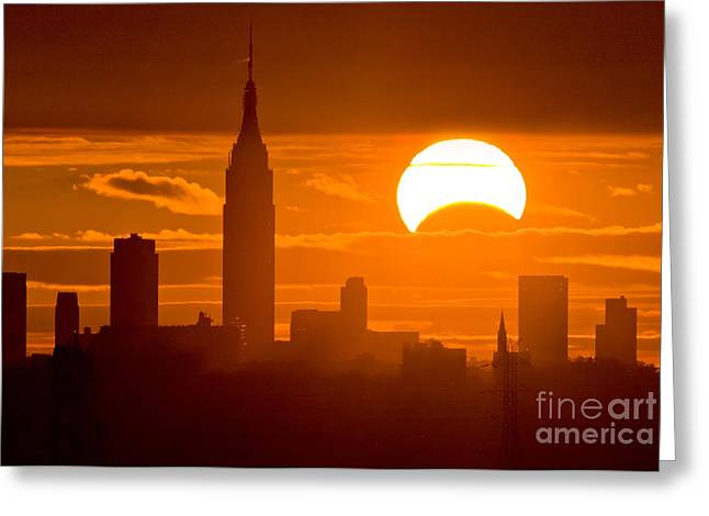 Solar Eclipse Greeting Cards - Solar Eclipse on Nov 3rd 2013 Greeting Card by Chris Cook