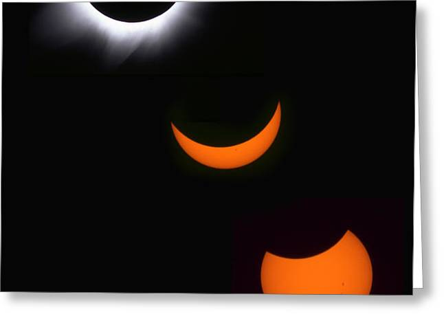 Solar Eclipse Sequence Greeting Card by Francois Gohier