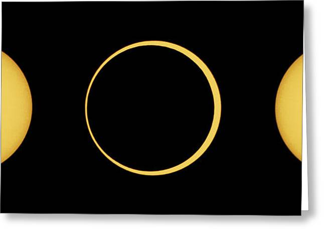 Solar Eclipse Greeting Cards - Solar Eclipse Sequence Greeting Card by John Chumack