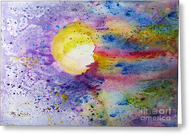 Desiree Paquette Mixed Media Greeting Cards - Solar Flair Greeting Card by Desiree Paquette