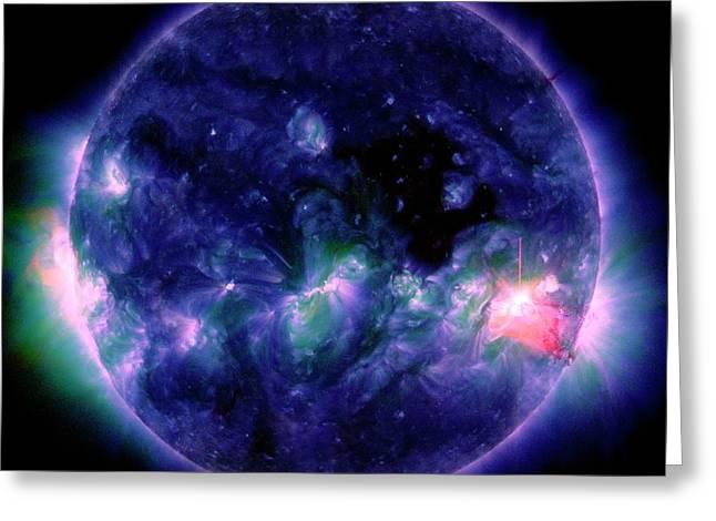 Solar Flare Greeting Card by Nasa/sdo