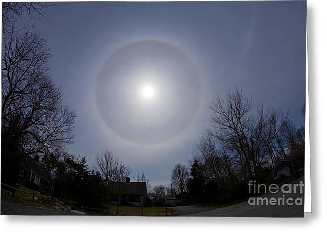 Solar Halo Greeting Card by Chris Cook