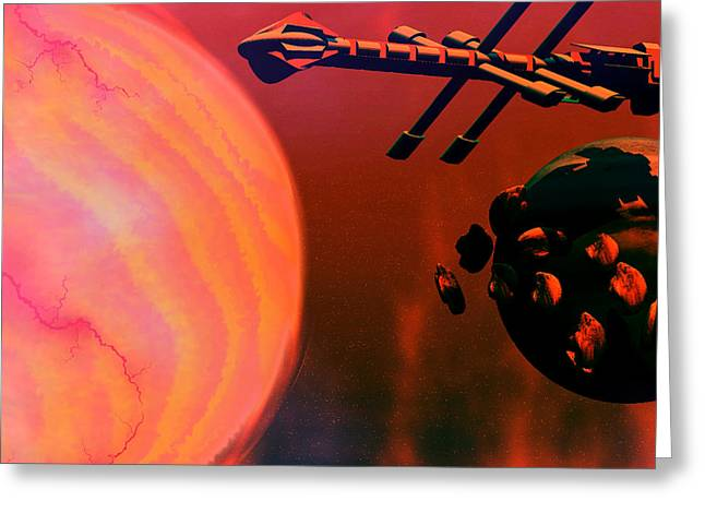 Jet Star Greeting Cards - Solar Nexus Greeting Card by Corey Ford