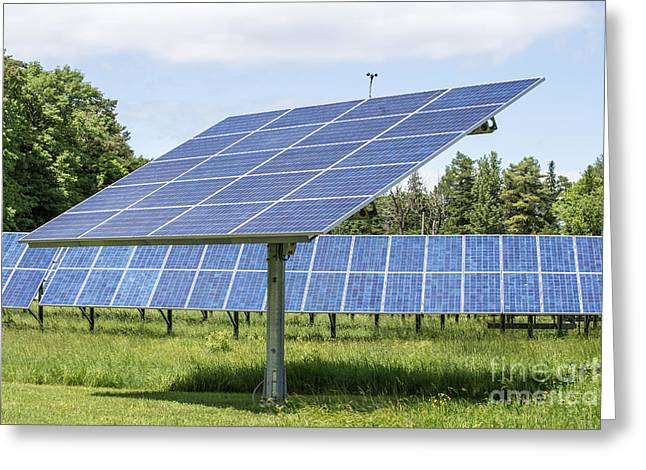 Generators Greeting Cards - Solar Panels Greeting Card by Edward Fielding