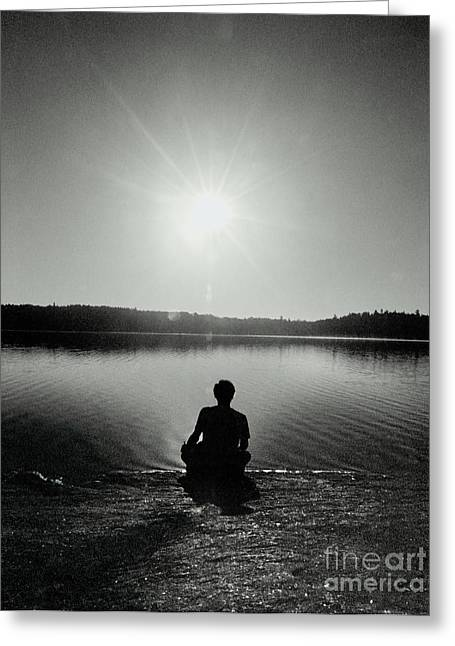Solar Plexus Chakra Greeting Cards - Solar Plexus Chakra - Meditation Greeting Card by Mark Avery