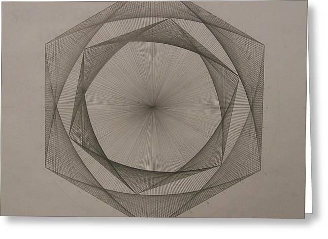 Solar spiraling Greeting Card by Jason Padgett