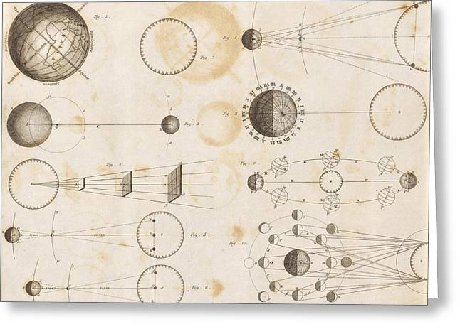 Publication Greeting Cards - Solar system astronomy, 19th century Greeting Card by Science Photo Library