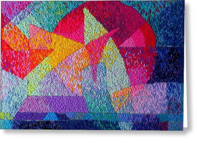 Solar Tapestry Greeting Card by Diane Fine
