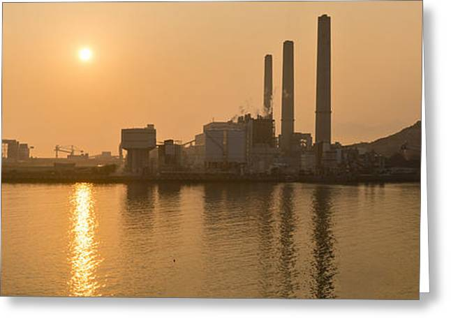 China Beach Greeting Cards - Solar versus coal Greeting Card by Holger Spiering