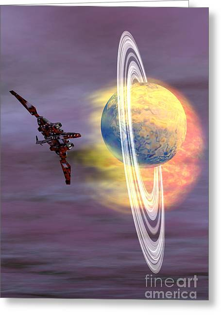 Jet Star Digital Art Greeting Cards - Solar Winds Greeting Card by Corey Ford