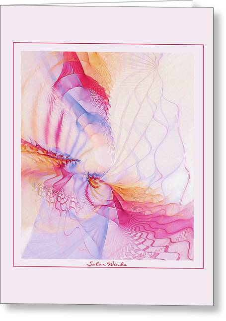 Graphic Digital Art Pastels Greeting Cards - Solar Winds Greeting Card by Gayle Odsather