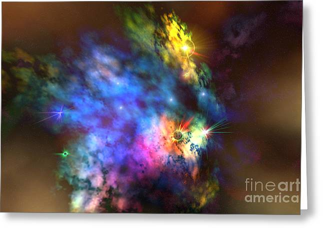 Interstellar Space Digital Art Greeting Cards - Solaris Nebula Greeting Card by Corey Ford