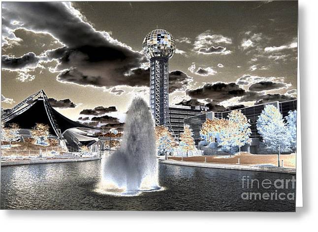 Tn Digital Art Greeting Cards - Solarized Infrared city park Greeting Card by Paul W Faust -  Impressions of Light