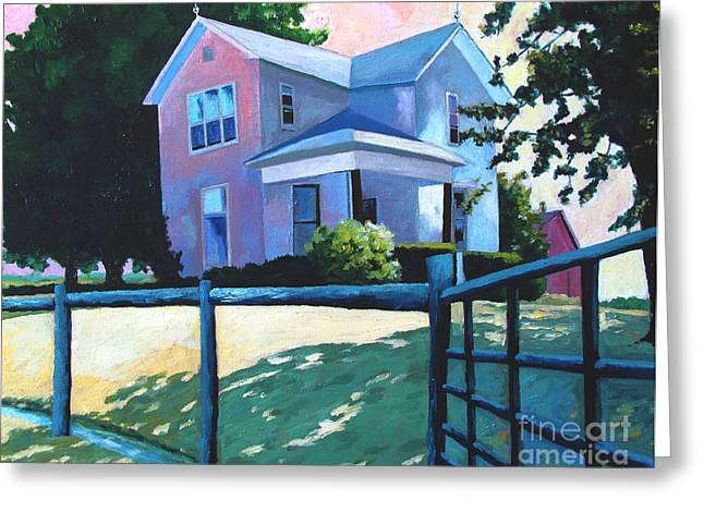 Charlie Spear Greeting Cards - SOLD CHILDHOOD HOME Comissioned Work Greeting Card by Charlie Spear