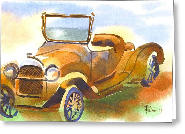 Rusted Cars Paintings Greeting Cards - Getting a Little Rusty Greeting Card by Kip DeVore