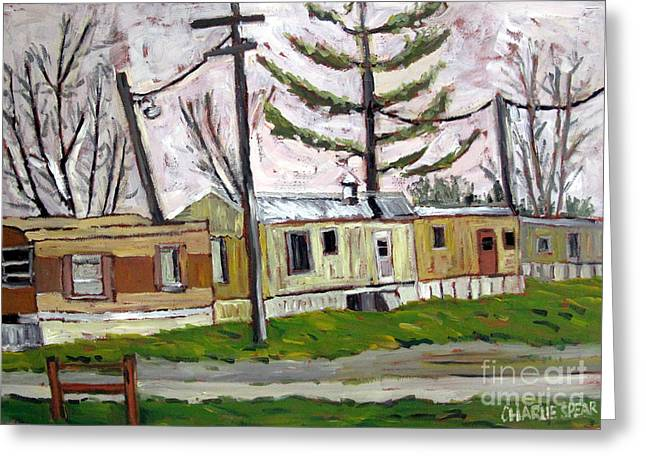 Sold Rainy Day Trailers Greeting Card by Charlie Spear
