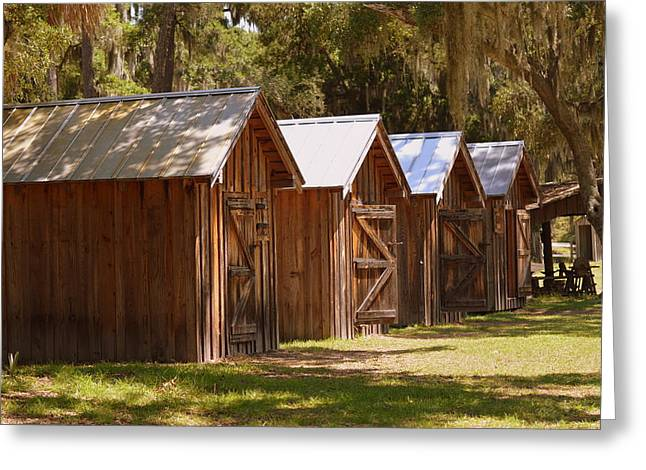 Tin Roof Greeting Cards - Soldier barracks Greeting Card by Linda Covino