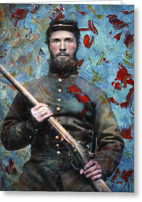 Guns Photographs Greeting Cards - Soldier Fellow 2 Greeting Card by James W Johnson