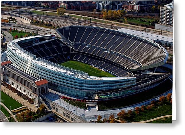 Soldier Field Chicago Sports 06 Greeting Card by Thomas Woolworth