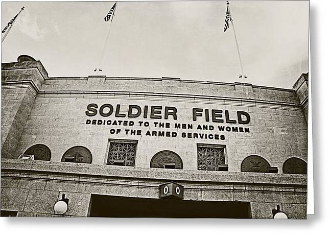 Soldier Field Greeting Card by Jessie Gould