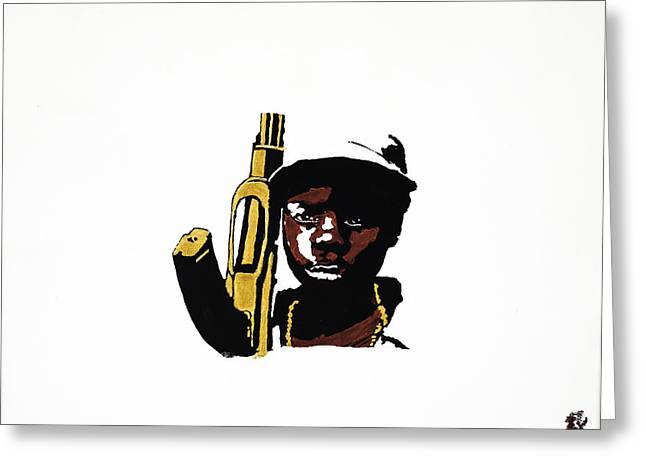 Ak47 Greeting Cards - Soldier of Misfortune Greeting Card by Sait