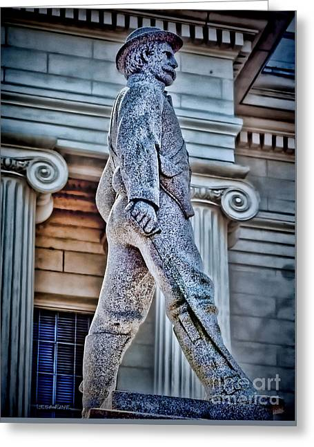 Soldier Statue Hdr Alabama State Capitol Greeting Card by Lesa Fine