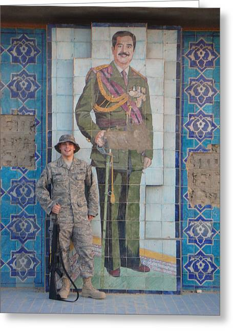 Baghdad Greeting Cards - Soldier to Sedam Greeting Card by Sharla Fossen