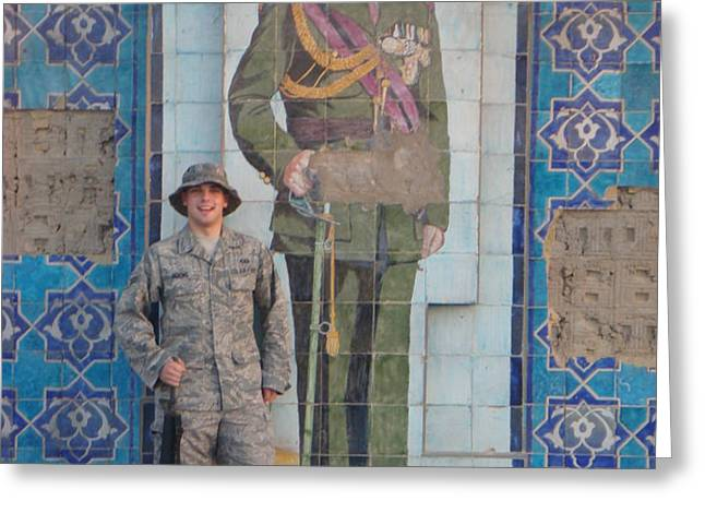 Soldier to Sedam Greeting Card by Sharla Fossen
