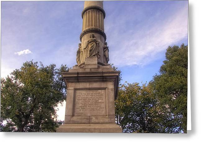Soldiers and Sailors Monument - Boston Greeting Card by Joann Vitali