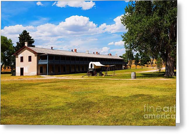 Little Big Horn Photographs Greeting Cards - Soldiers Barracks Greeting Card by Jon Burch Photography