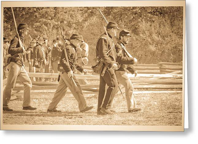 Confederate Flag Greeting Cards - Soldiers Greeting Card by Steve McKinzie
