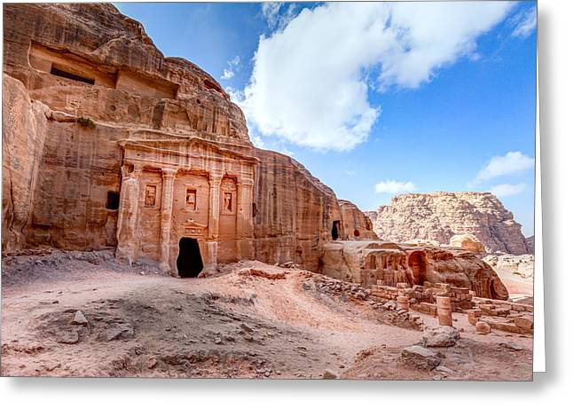 Petra - Jordan Greeting Cards - Soldiers Tomb Greeting Card by Alexey Stiop
