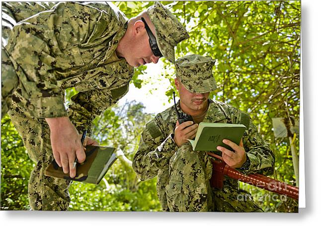 Reporting Greeting Cards - Soldiers Training On Combat Tactics Greeting Card by Stocktrek Images