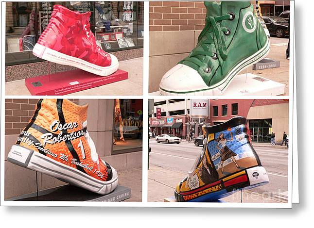 Basketball Shoes Greeting Cards - Soles of Indianapolis Greeting Card by David Bearden