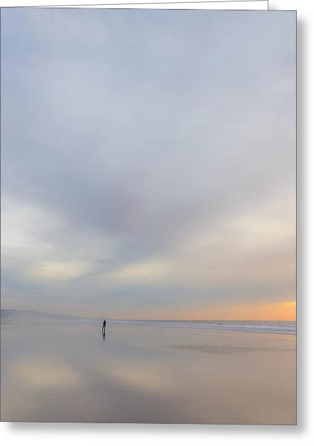 Ocean. Reflection Greeting Cards - Soli-Dude Greeting Card by Peter Tellone