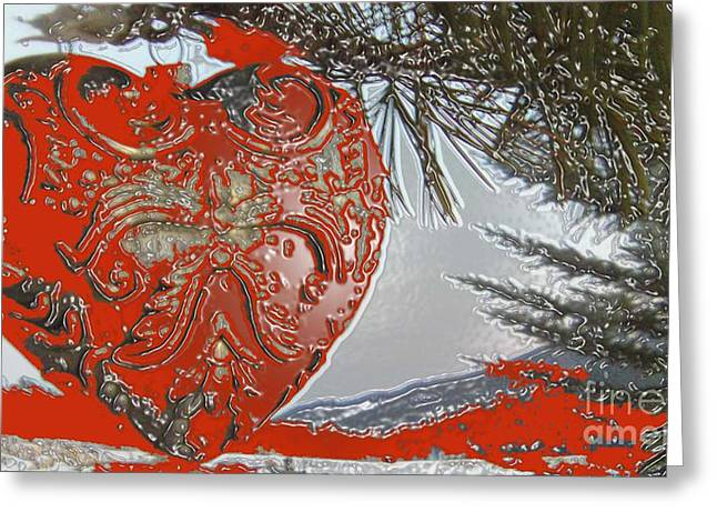 Feile Case Greeting Cards - Solid LOVE HEART Made of Metal Greeting Card by Feile Case