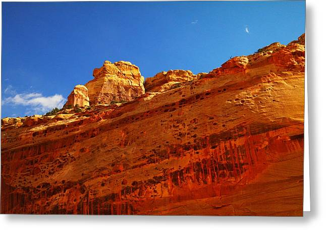 Monolith Greeting Cards - Solid Stone Greeting Card by Jeff  Swan