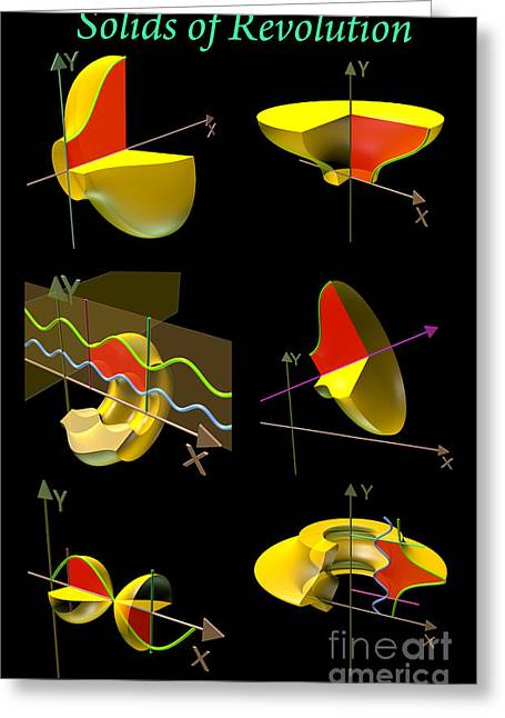 Bounded Area Digital Art Greeting Cards - Solids of Revolution Poster Greeting Card by Russell Kightley