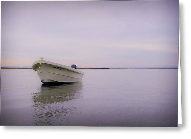 Negro Photographs Greeting Cards - Solitary Boat Greeting Card by Adam Romanowicz