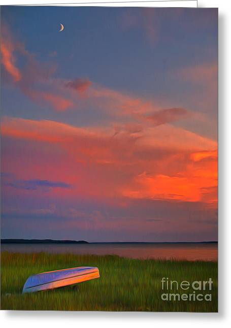 Row Boat Greeting Cards - Solitary  Greeting Card by Brian Mollenkopf
