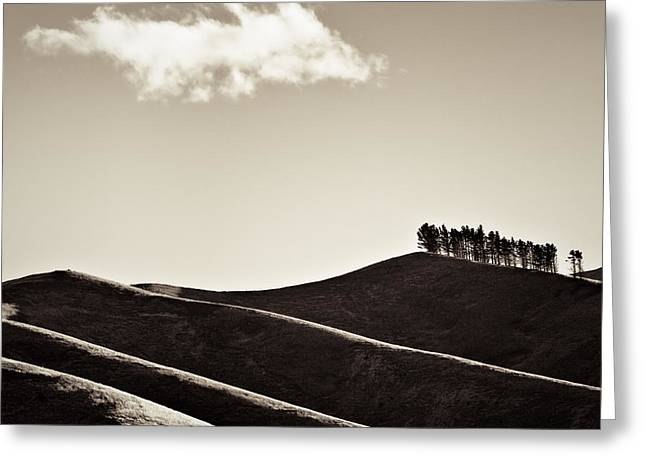 New Zealand Greeting Cards - Solitary Cloud Greeting Card by Dave Bowman